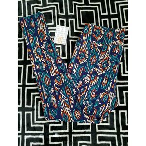 NWT LuLaRoe TC Leggings Multicolor on Navy Blue BG